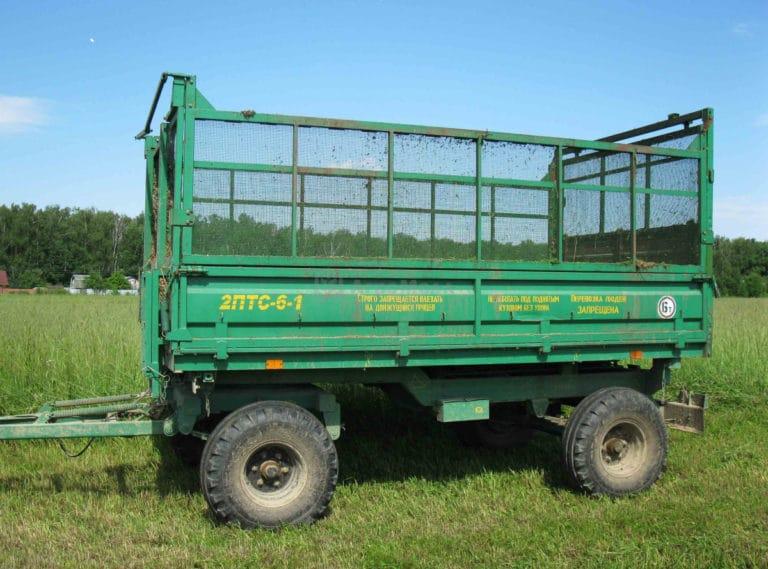 Прицеп самосвальный тракторный 2ПТС-6-1